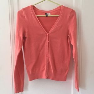 H&M Divided Coral Cardigan